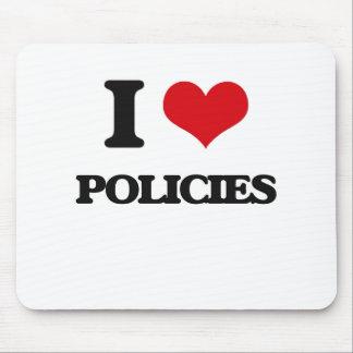I Liebe-Politik Mousepad