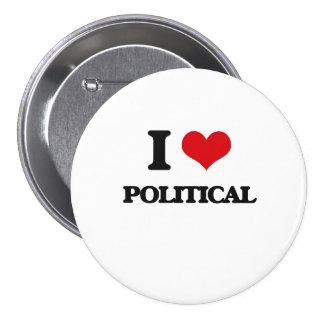 I Liebe politisch Anstecknadelbuttons