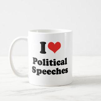 I LIEBE-POLITISCHE REDEN - .PNG TASSE