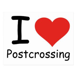 I Liebe Postcrossing Postkarten