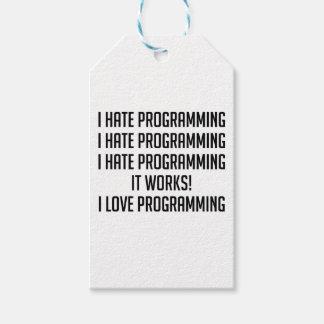 I Liebe-Programmierung Geschenkanhänger