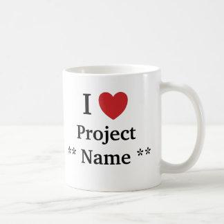 I Liebe-Projekt *Add ein name* Projekt-Team-Slogan Kaffeetasse