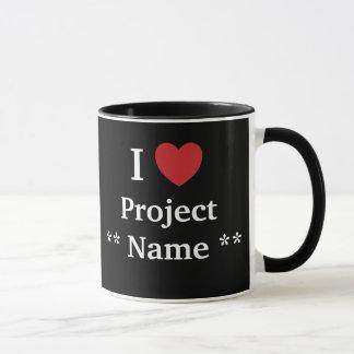 I Liebe-Projekt? /Lieben ich Personalisable Team Tasse