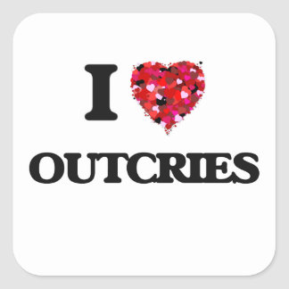 I Liebe-Protests Quadrat-Aufkleber