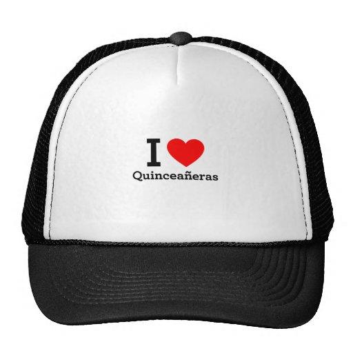 I Liebe Quinceaneras Netzmütze