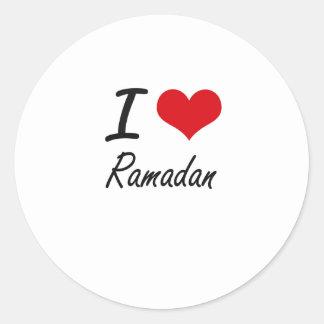 I Liebe Ramadan Runder Aufkleber