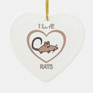 I Liebe-Ratten Keramik Ornament