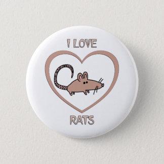 I Liebe-Ratten Runder Button 5,7 Cm