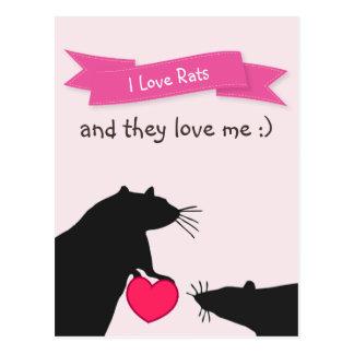 I Liebe-Ratten und sie Liebe ich Postkarte