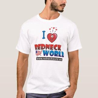 I Liebe-Redneck-Welt T-Shirt
