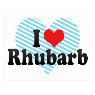 I Liebe-Rhabarber Postkarte
