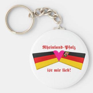 I Liebe-Rheinland-Pfalz ist-MIR lieb Standard Runder Schlüsselanhänger
