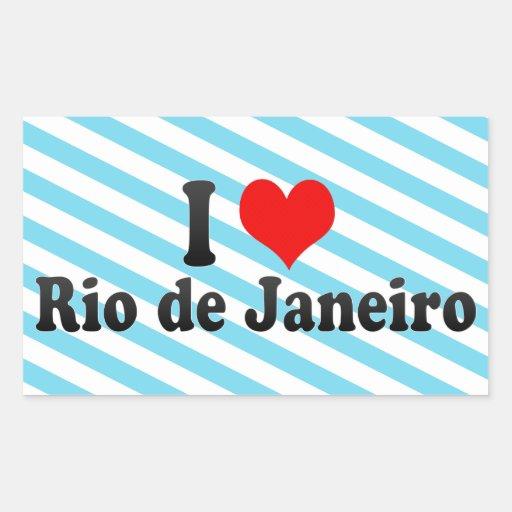 I Liebe Rio de Janeiro, Brasilien Rechteckige Aufkleber
