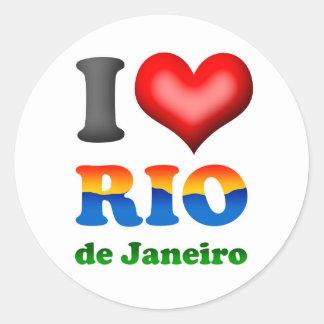 I Liebe Rio de Janeiro, Brasilien die wunderbare Runder Aufkleber
