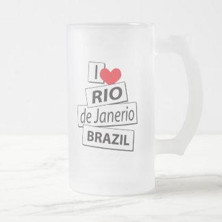 I Liebe Rio de Janerio Brasilien Mattglas Bierglas