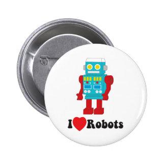 I Liebe-Roboter! Runder Button 5,7 Cm
