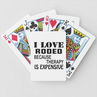 I Liebe-Rodeo, weil Therapie teuer ist Bicycle Spielkarten