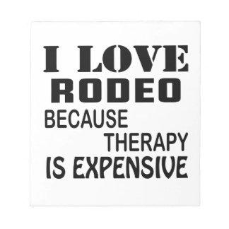 I Liebe-Rodeo, weil Therapie teuer ist Notizblock