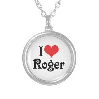 I Liebe Roger Versilberte Kette