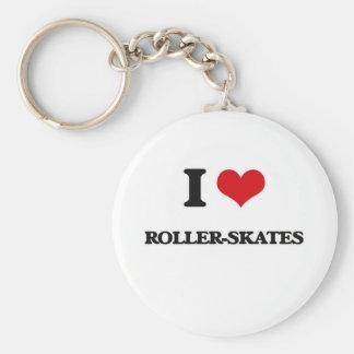 I Liebe Rolle-Skate Schlüsselanhänger