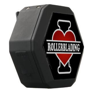 I Liebe Rollerblading Schwarze Bluetooth Lautsprecher