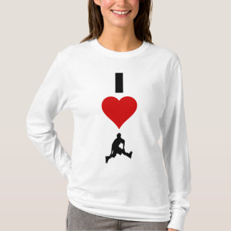 I Liebe Rollerblading (vertikal) T-Shirt