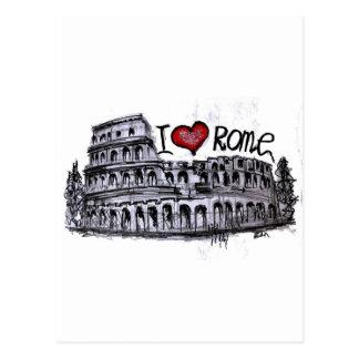I Liebe Rom Postkarte