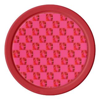 I Liebe-Rosen rosarot Poker Chip Set