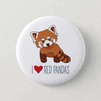I Liebe-rote Pandas - Cartoon-roter Panda Runder Button 5,7 Cm