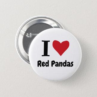 I Liebe-rote Pandas Runder Button 5,7 Cm