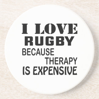 I Liebe-Rugby, weil Therapie teuer ist Getränkeuntersetzer