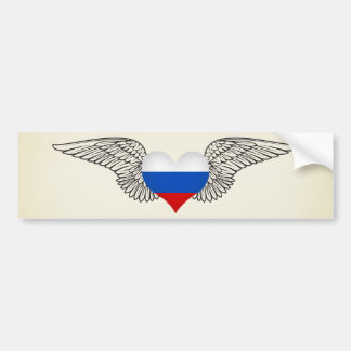 I Liebe-Russische Föderation - Flügel Autoaufkleber