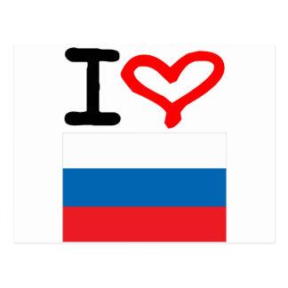I Liebe Russland Postkarte