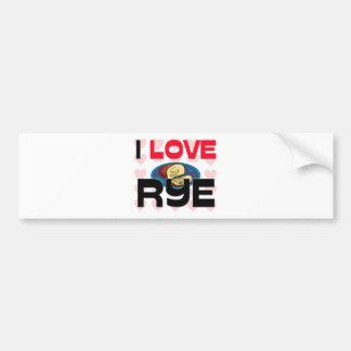 I Liebe Rye Autoaufkleber