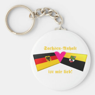 I Liebe-Sachsen-Anhalt ist-MIR lieb Standard Runder Schlüsselanhänger