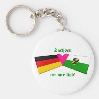 I Liebe-Sachsen ist-MIR lieb Standard Runder Schlüsselanhänger