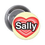 I Liebe Sally. Liebe I Sie Sally. Herz Anstecknadel
