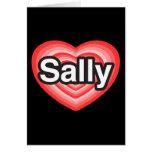 I Liebe Sally. Liebe I Sie Sally. Herz Grußkarte