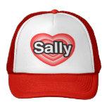 I Liebe Sally. Liebe I Sie Sally. Herz Baseball Caps