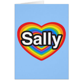 I Liebe Sally. Liebe I Sie Sally. Herz Karte