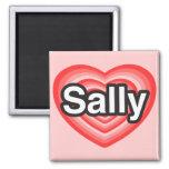 I Liebe Sally. Liebe I Sie Sally. Herz Magnets
