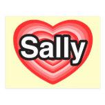I Liebe Sally. Liebe I Sie Sally. Herz Postkarte