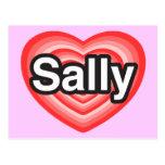 I Liebe Sally. Liebe I Sie Sally. Herz Postkarten