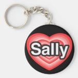 I Liebe Sally. Liebe I Sie Sally. Herz Schlüsselband