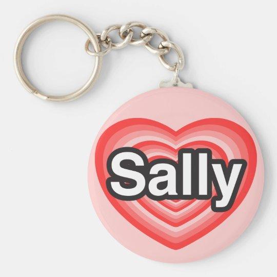 I Liebe Sally. Liebe I Sie Sally. Herz Standard Runder Schlüsselanhänger