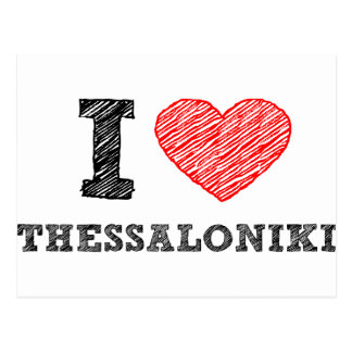 I Liebe Saloniki Postkarte