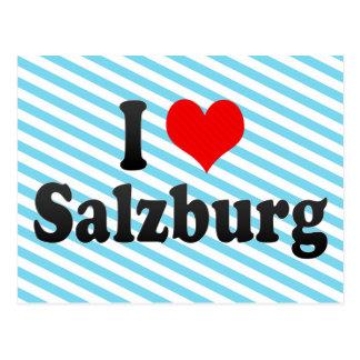I Liebe Salzburg, Österreich Postkarte