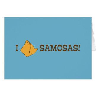 I Liebe Samosas Grußkarte