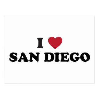 I Liebe San Diego Kalifornien Postkarte