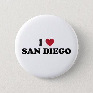 I Liebe San Diego Kalifornien Runder Button 5,7 Cm
